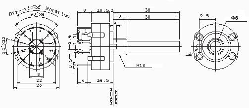 Przełącznik obrotowy przełączniki obrotowe
